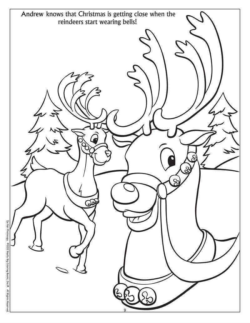 Coloring books personalized winter fun coloring book for Winter activities coloring pages
