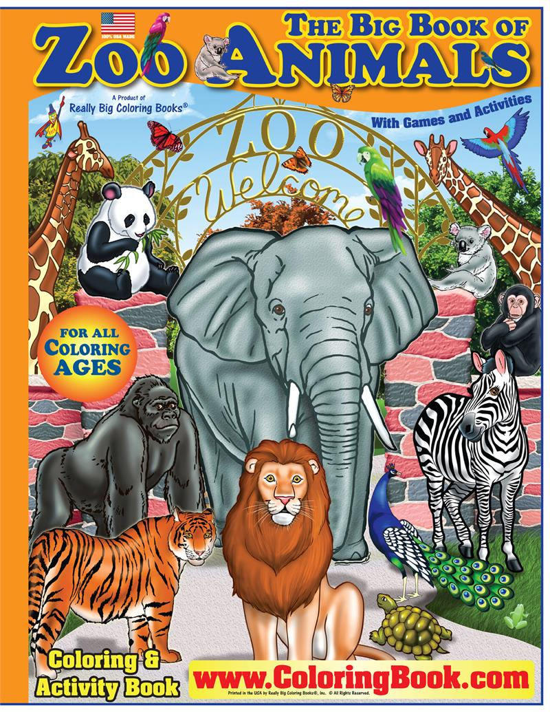 Coloring books zoo animals really big coloring book Coloring book zoo animals