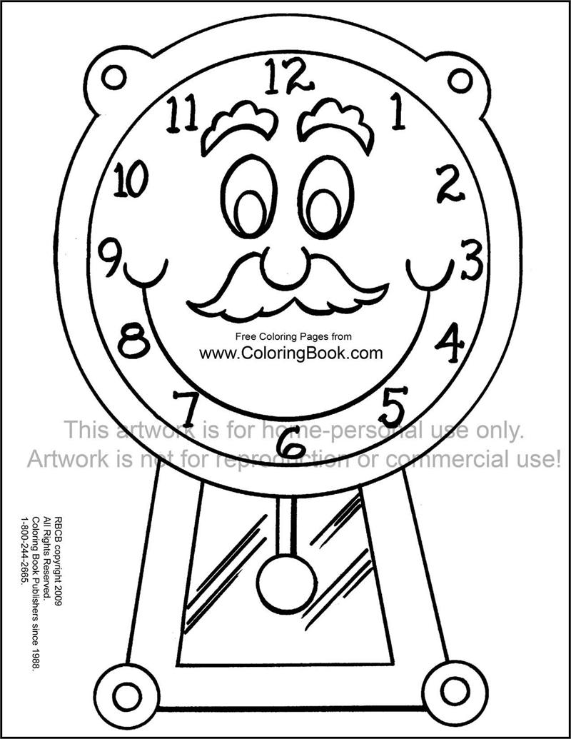 Coloring Pages Free Online Coloring Pages Clock
