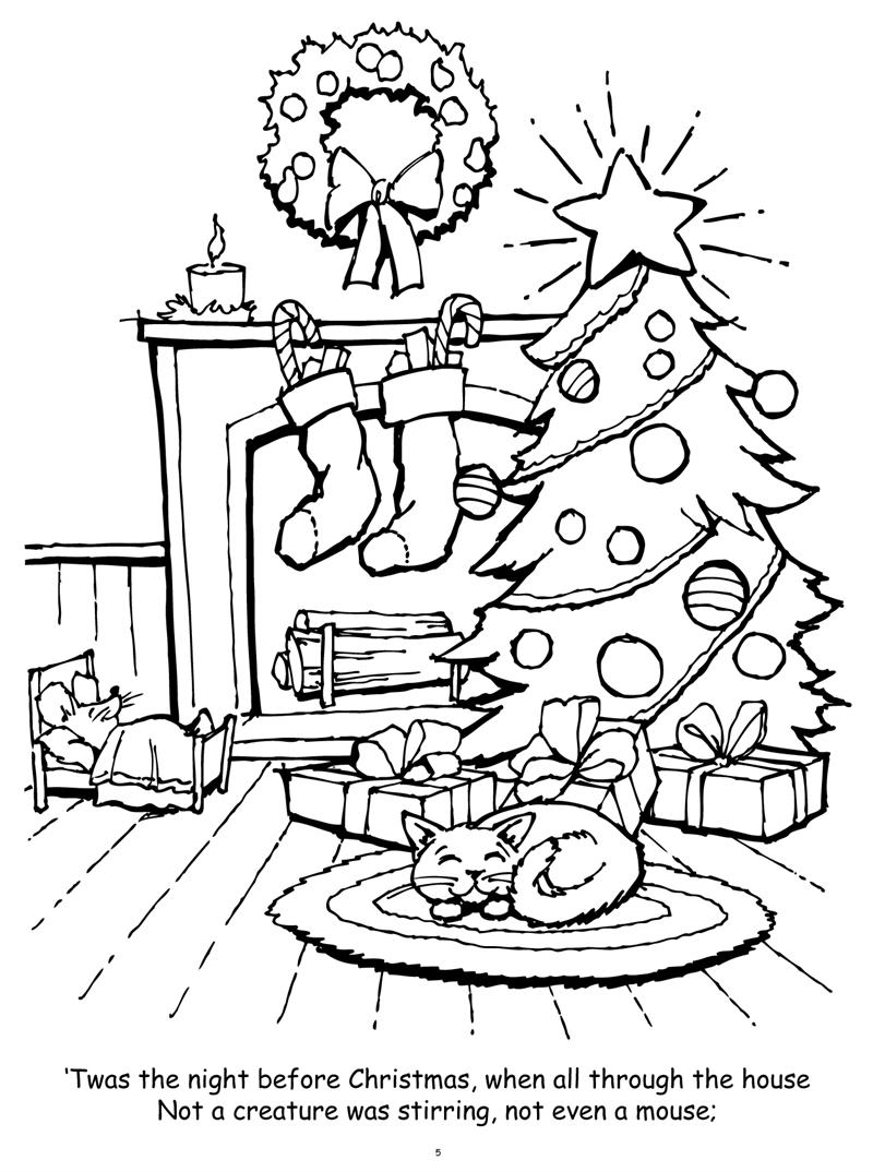 the night before christmas coloring pages coloring books twas night before christmas really big